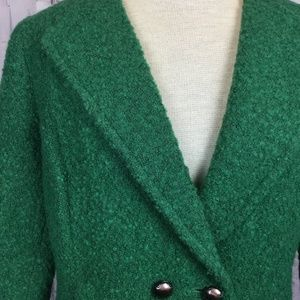 CAbi Jackets & Coats - CAbi  Boucle Blazer Green Jacket 8